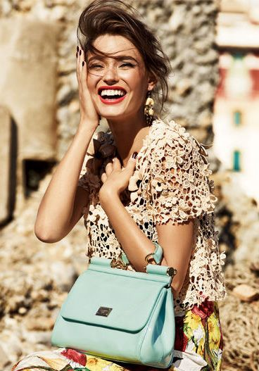 Love the whole outfit. Bianca Balti for Dolce & Gabbana