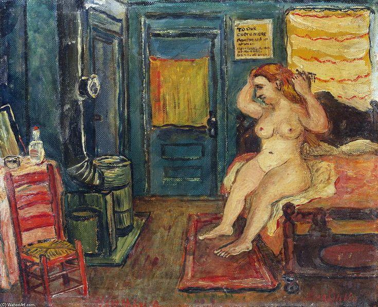 'Nude' by David Burliuk (1882-1967, Ukraine)
