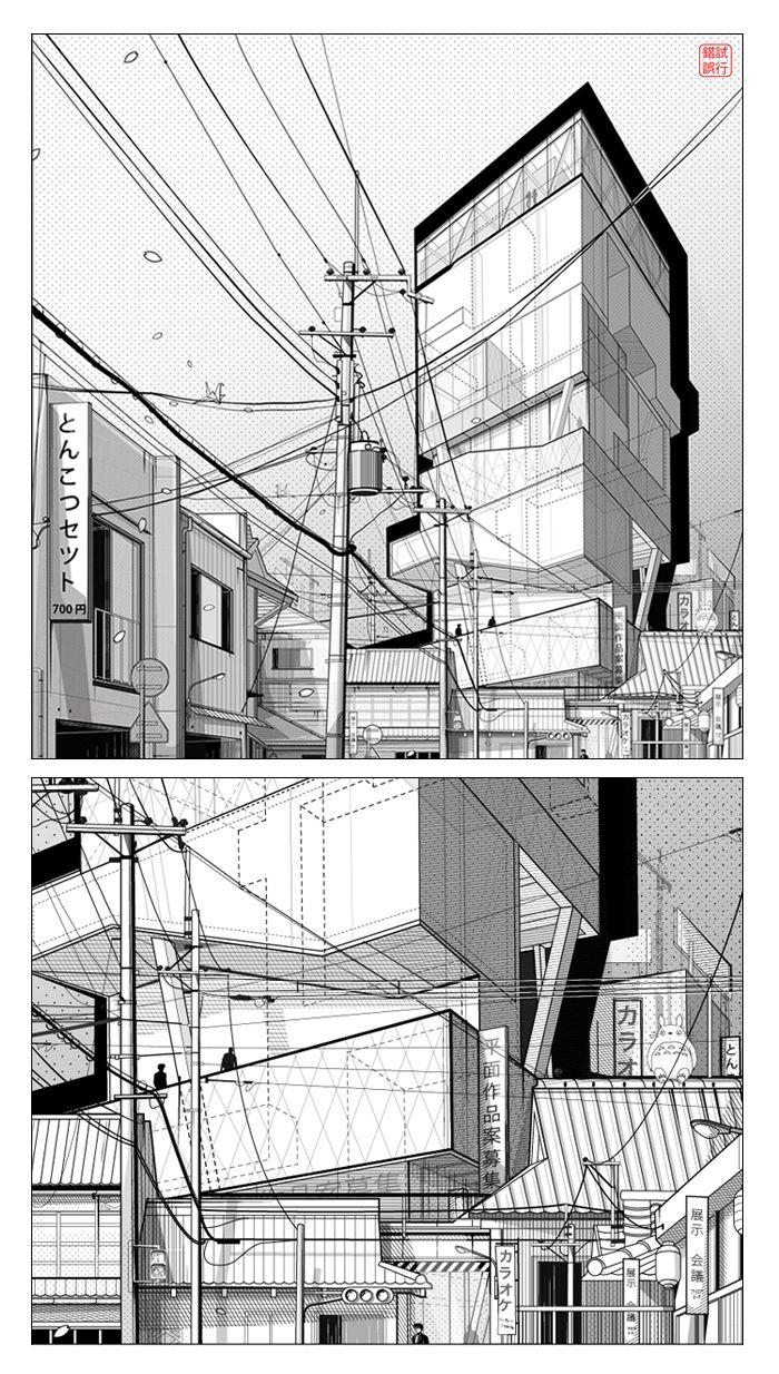 Alexander Daxböck | Highrise Proposal | Tokyo, Japan | https://www.behance.net/alexanderdaxboeck