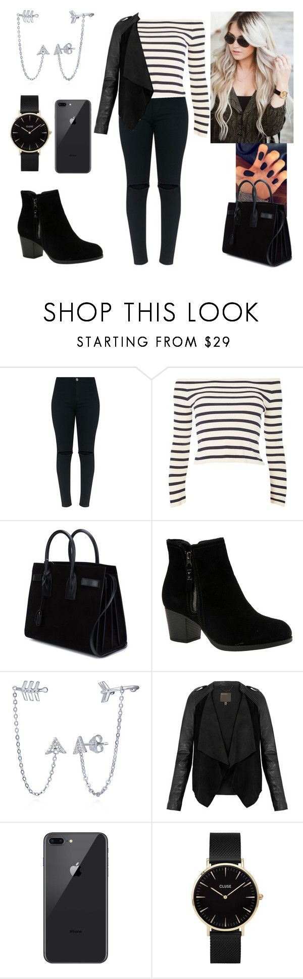 """""""When a door closes another one opens."""" by paoladouka on Polyvore featuring Topshop, Yves Saint Laurent, Skechers, BERRICLE, MuuBaa and CLUSE"""