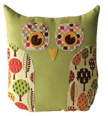 cutest owl pillow pattern. Right after I learn to sew...