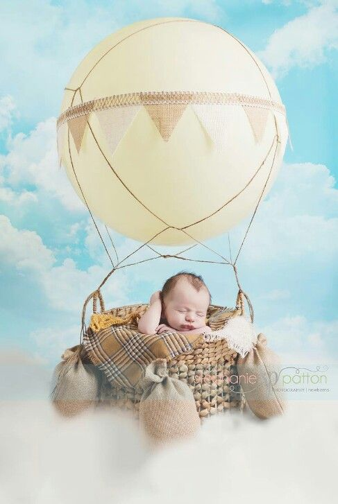 Newborn boy in a hot air balloon :) Photo by Stephanie Patton Photography, Lake Jackson, TX.