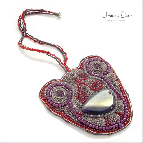 The pendant with Agate stone- beading!