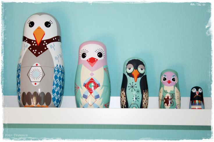 "Love these Bird ""babushka"" from FAVORITSAKER.SE"