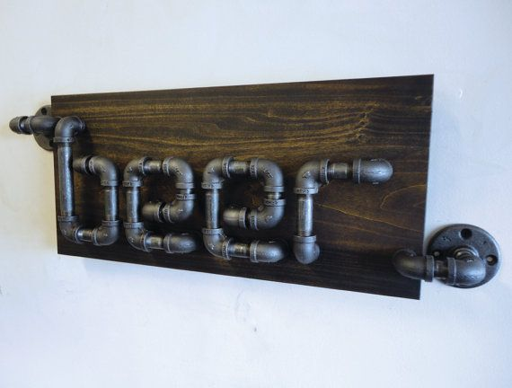 "The Rampant."" A one of a kind design by Mobee Industrial Designs. An Industrial Black Pipe Beer Sign! A great addition to any Man Cave! BilliardFactory.com"