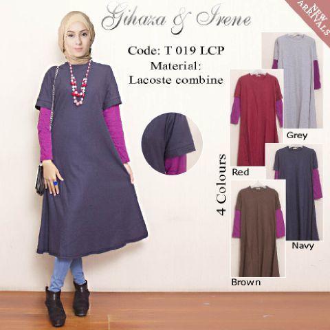 Zariani Stripe Casual Muslim Dress