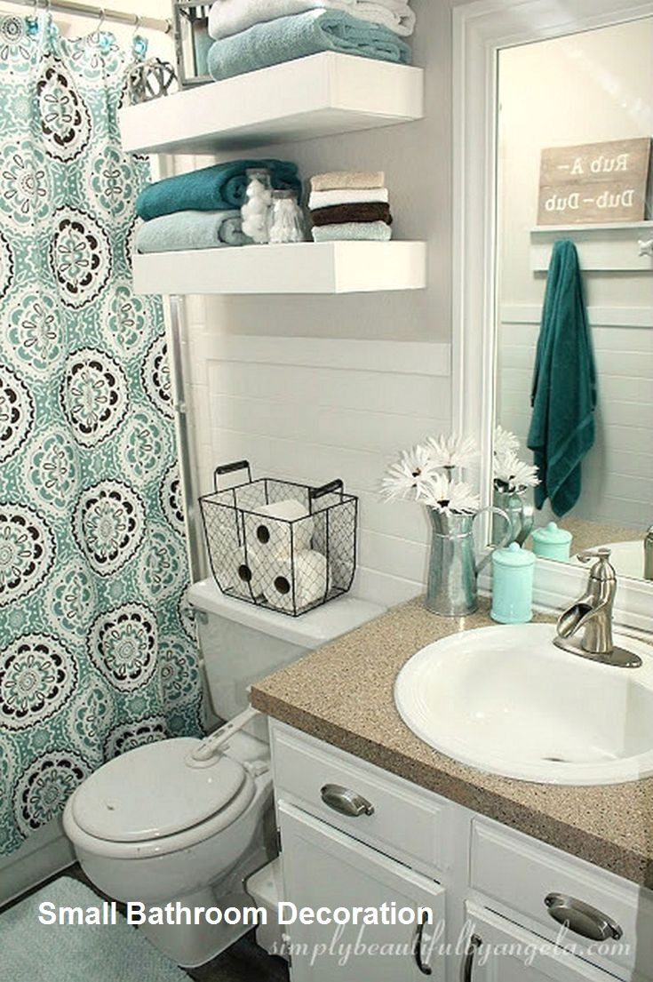 Cozy Small Bathroom Decor Ideas In 2020 Bathroom Decor Small Bathroom Decor Small Apartment Bathroom