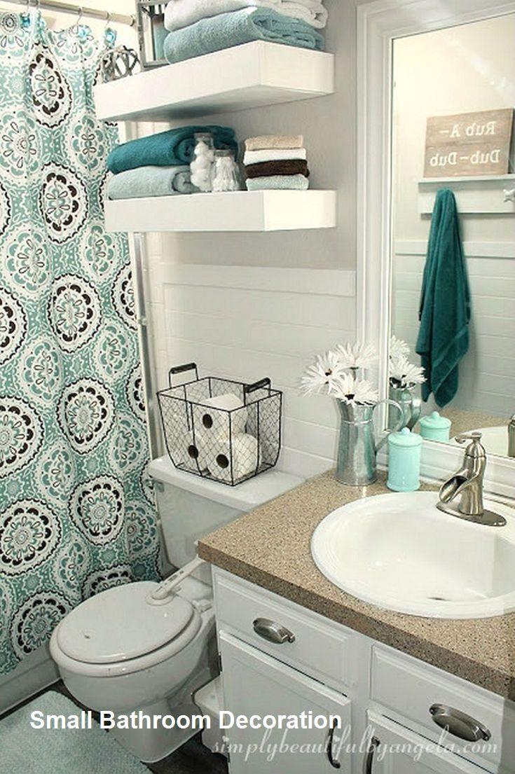 Cozy Small Bathroom Decor Ideas In 2020 Bathroom Decor Small Bathroom Decor Small Apartment Bathroom