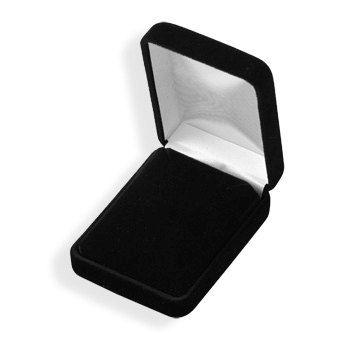 Black Velvet Earring Box by jewelrymandave on Etsy, $9.99