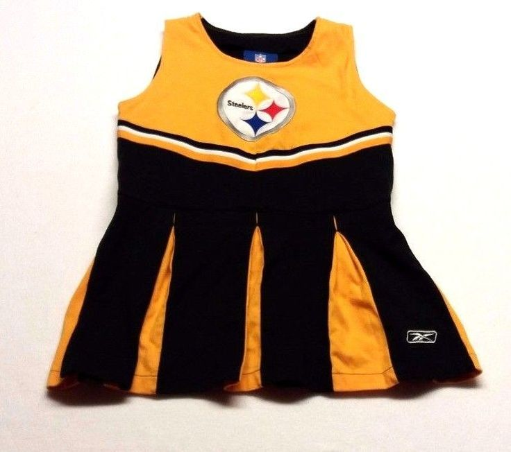 Reebok NFL Pittsburgh Steelers Girls Cheerleader Outfit Costume Size 5-6 Med (C4 #Reebok #OnePiece #Everyday