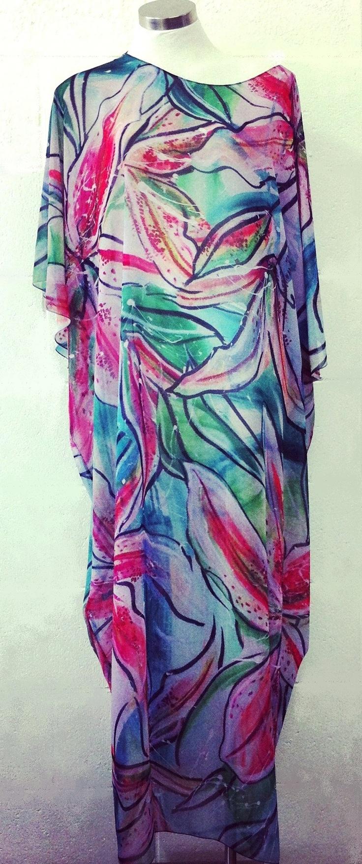 'Lilys' Cupro kaftan $189  One size fits all  www.tangella.com.au