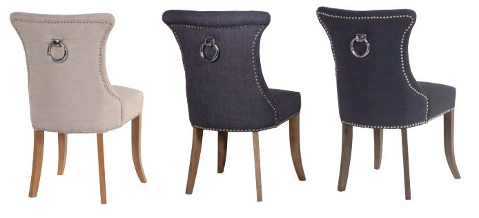 Image gallery studded chair for Studded dining room chairs