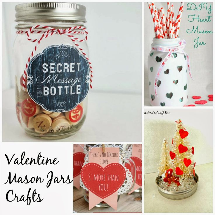 Valentine Mason Jar GiftCraft Ideas Love Is In The Air