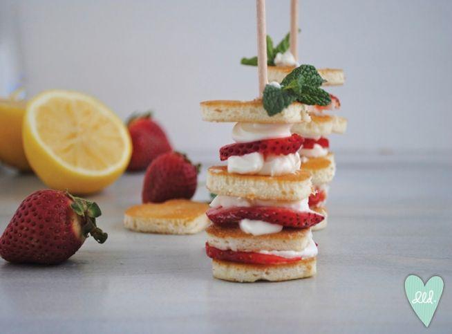 Heart shaped Valentines Day Mini pancakes. Design Loves Detail » Blog