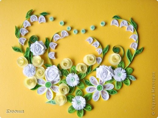 Quilling card: Just a postcard paper