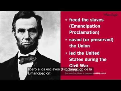 Examen De Ciudadanía Americana 2016 - 20 Preguntas y Respuestas