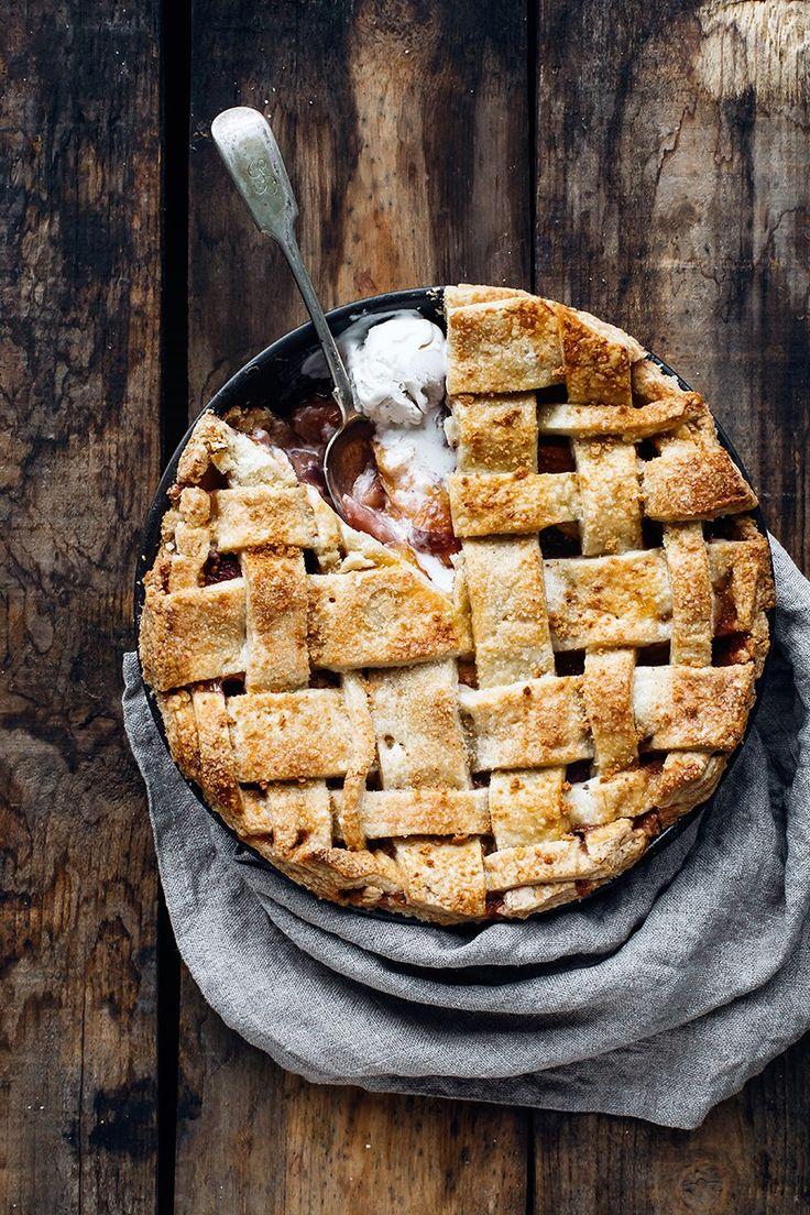 Nectarine, Tea, and Amaretti Pie (Dairy-Free)