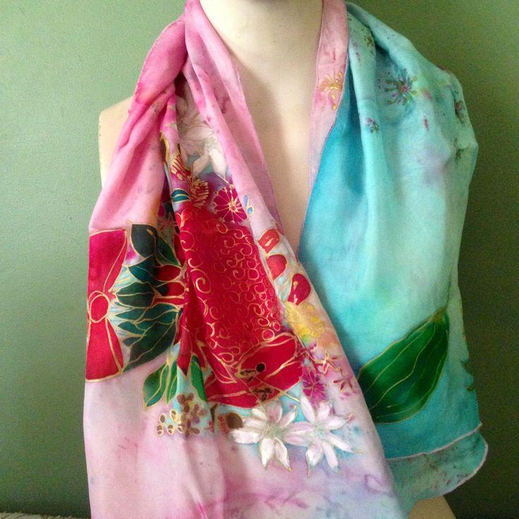 Australian Wildflowers Silk by The Silk Maid