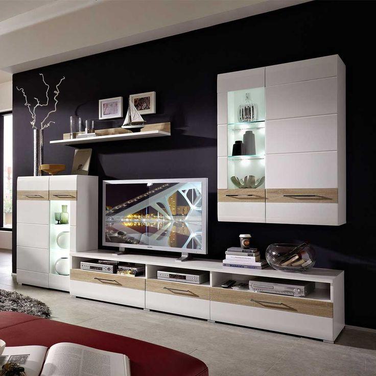 Wohnzimmermöbel weiß eiche  Die besten 20+ Wohnwand sonoma eiche Ideen auf Pinterest | Salon ...