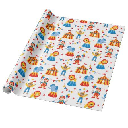 Cute Circus Animal Wrapping Paper - click to get yours right now! #pattern #patterns #illustrations #illustration #animal #animals #giftwrap #giftwrapping #kids #children