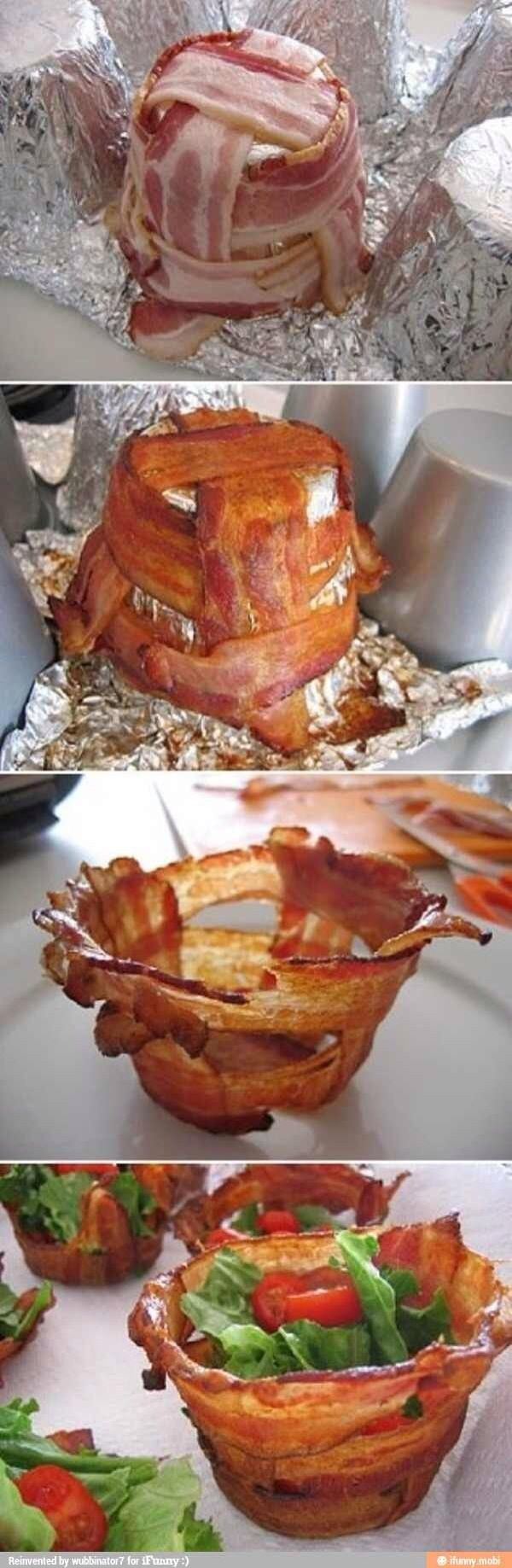 How to Make Bacon Bowls for Salad (Found Online)