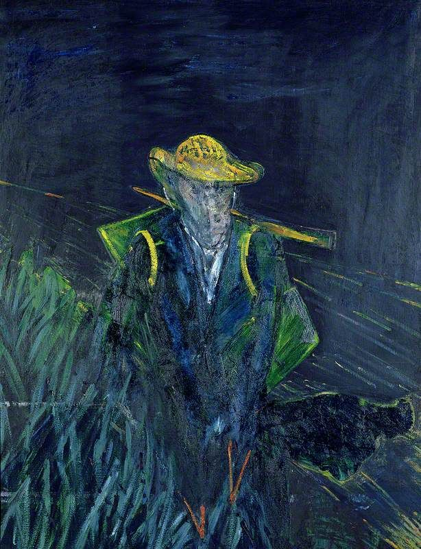 Study for a Portrait of Van Gogh I  by Francis Bacon  Date painted: 1956  Oil on canvas, 154.1 x 115.6 cm  Collection: Sainsbury Centre for Visual Arts, University of East Anglia