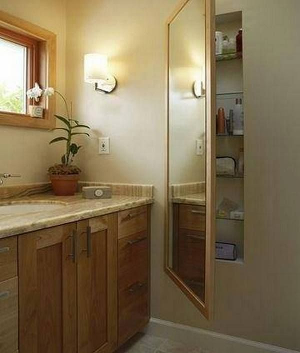 """Do you need more storage in the bathroom, but don't have the space? Then this idea might help. Head over to our """"Bathroom Ideas"""" album for more bathroom inspiration now at http://theownerbuildernetwork.co/ideas-for-your-rooms/bathrooms-gallery/bathrooms/ What do you think?"""