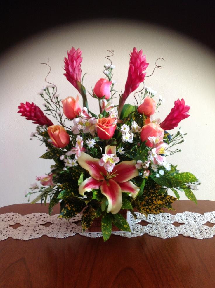 Arreglo con flores naturales 10 de mayo pinterest - Arreglo de flores naturales ...