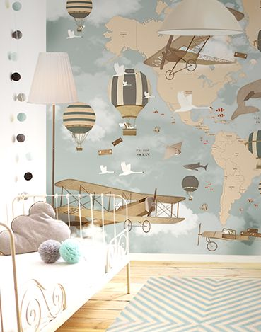 25 best ideas about kids rooms decor on pinterest kids for Children mural wallpaper