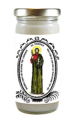 Saint Timothy Patron of Healing the Stomach 8 Ounce Scented Soy Prayer Candle
