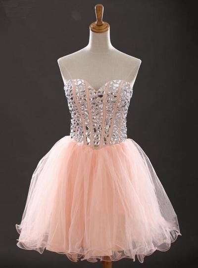 Homecoming Dress,Short Prom Dresses,Tulle Homecoming Gowns,Party Dress,Sparkly Prom Gown,Short Homecoming Dresses
