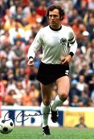 Franz Beckenbauer of West Germany in action at the 1974 World Cup Finals.