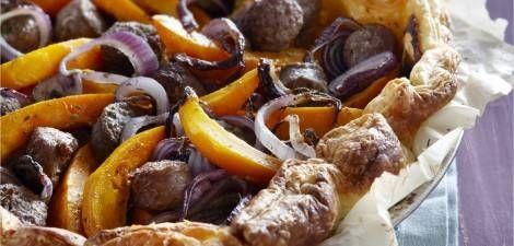Hartige Taart Met Worst ,ui En Pompoen recept | Smulweb.nl