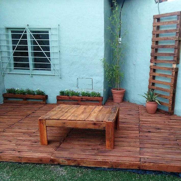 As 25 melhores ideias de pallet patio decks no pinterest for Mobiliario de patio