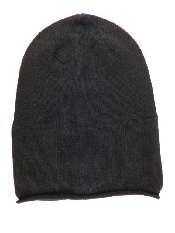 Zwillingsherz Mütze Beanie Classic schwarz black uni ohne Stern mit Fleece u Kaschmir