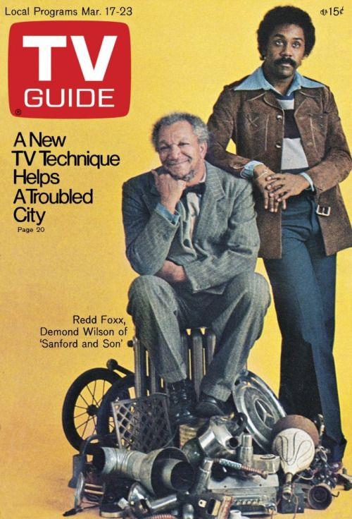 """""""TV Guide March 17, 1973 - Redd Foxx, Demond Wilson - Sanford and Son """""""