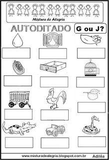 Autoditado para alfabetização com g ou j