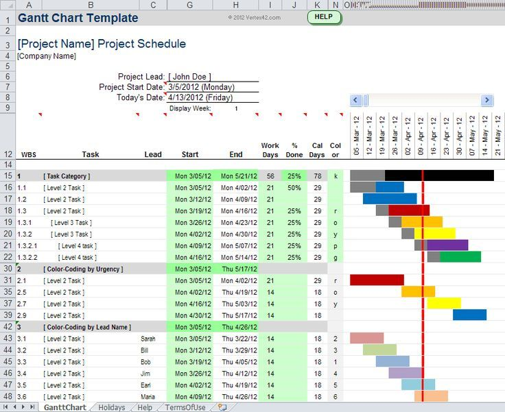 Video Gannt Chart Template For Excel 2007 And 2010 Xlsx In