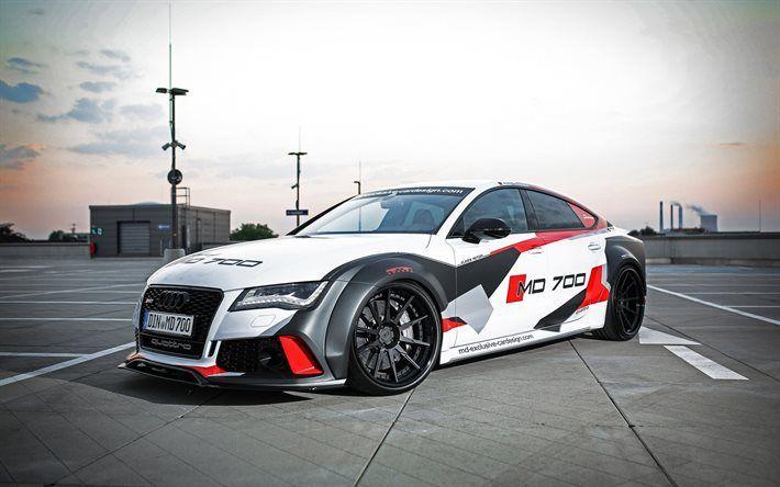 Download Hintergrundbilder Audi RS7, Tuning Audi, Exklusives Kartendesign, schwarze Räder, Audi – #download #exklusives #hintergrundbilder #kartendes…