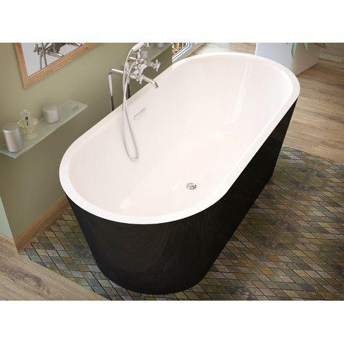 "Found it at Wayfair - Little Key 63"" x 31.37"" Freestanding One Piece Soaking Bathtub with Center Drain"