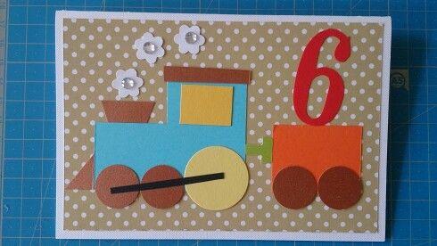 6th birthday card for boy. Kartka urodzinowa dla chłopca