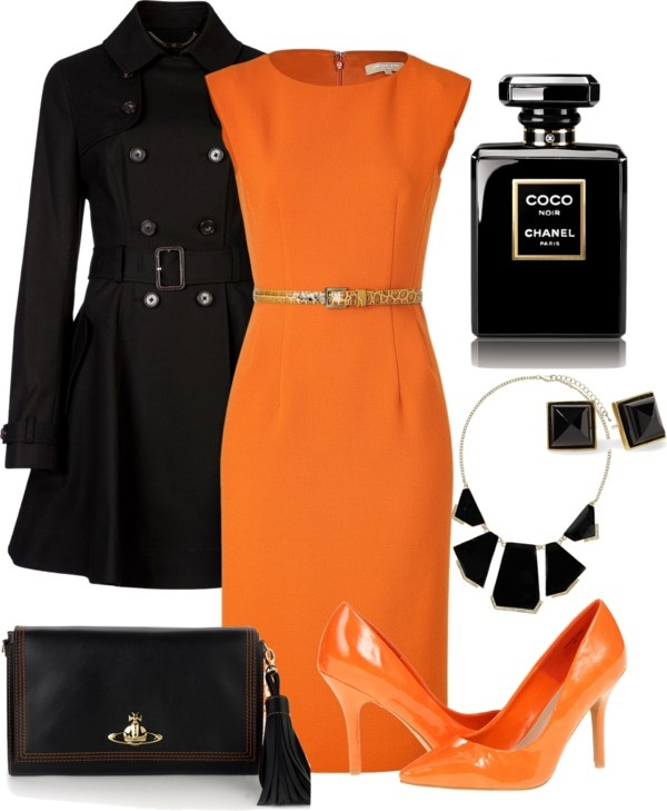 """Orange"" by erino9519 ❤ liked on Polyvore"
