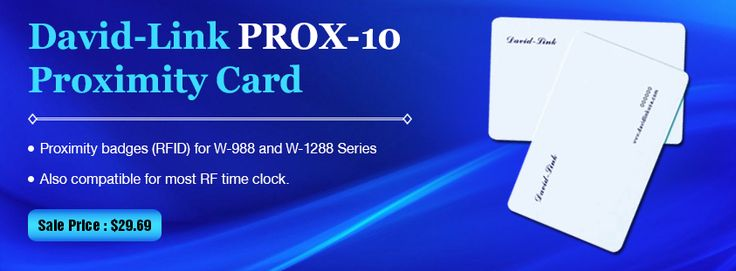 #David-#Link #PROX-10 Proximity #Card   #Proximity badges (#RFID) for #W988 and #W1288 Series.