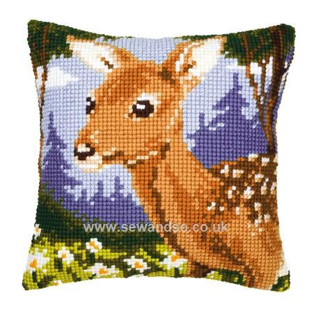 Buy Fawn Cushion Front Chunky Cross Stitch Kit Online at www.sewandso.co.uk