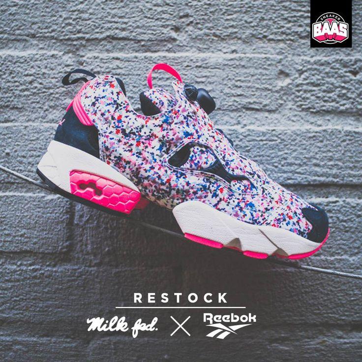 Reebok x Milk Fed Instapump | RESTOCK Be Quick! | www.sneakerbaas.nl | #Reebok #MilkFed #Restock #Baasbovenbaas