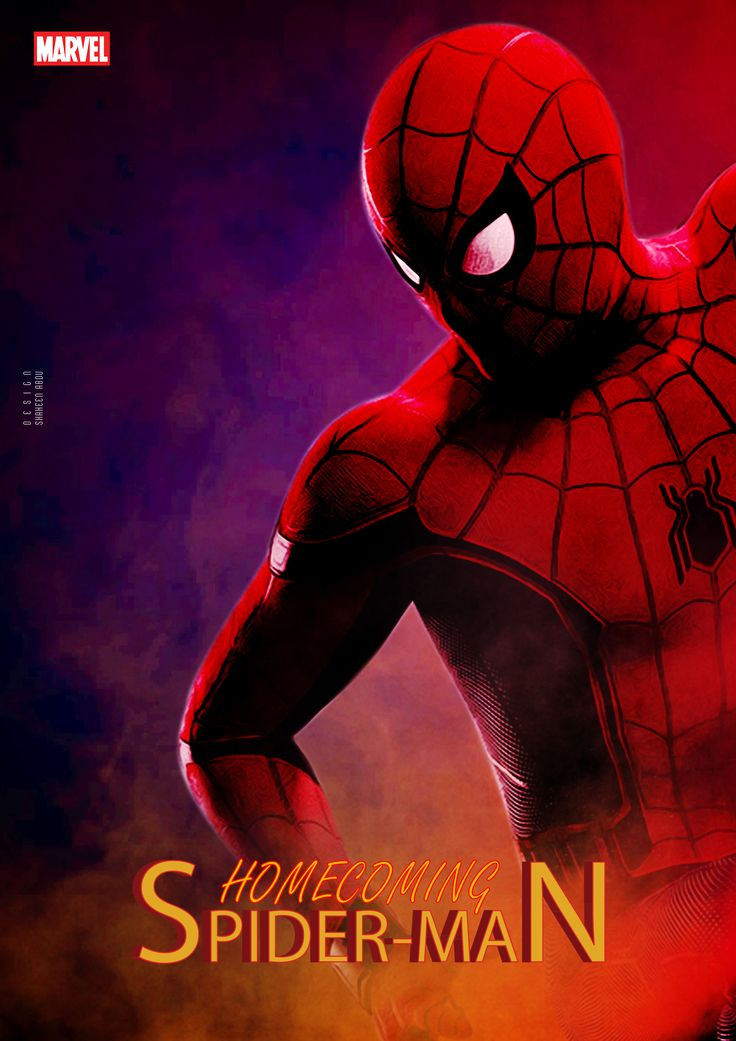 """""""SpiderMan Homecoming Hollywood Movie Poster"""""""