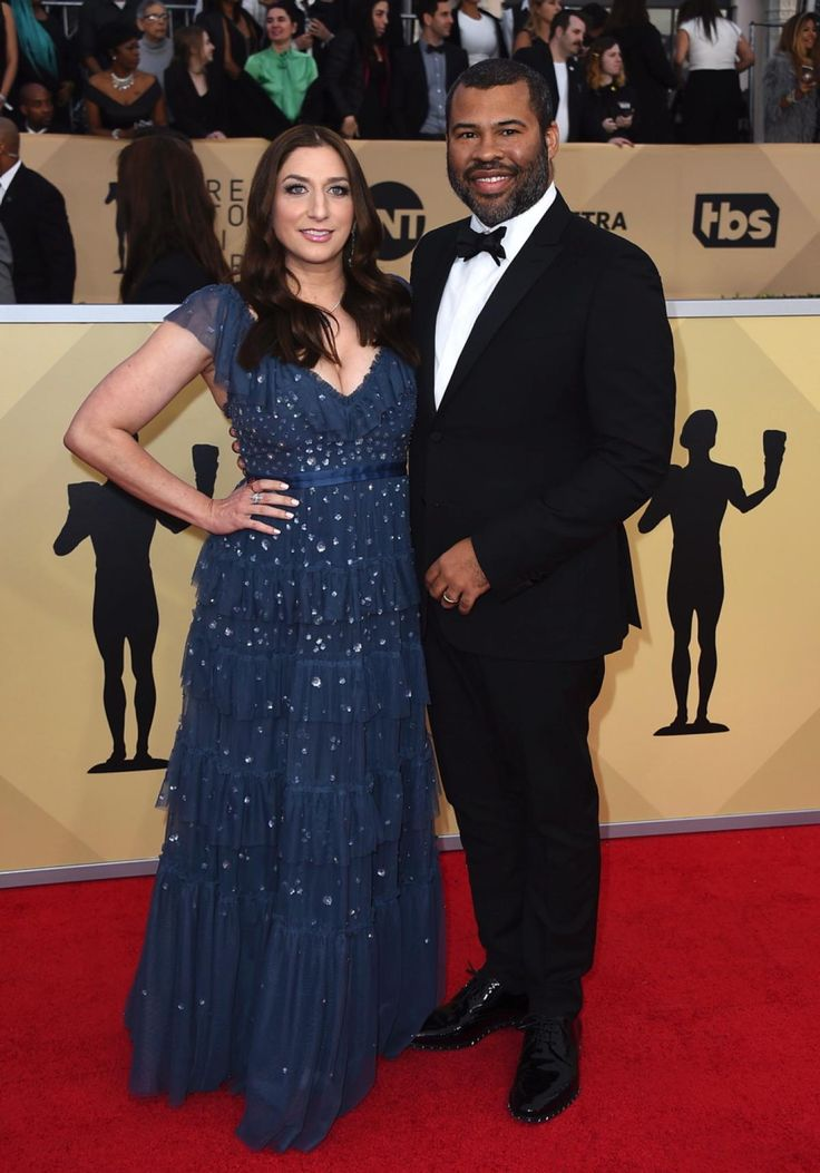 """BEST: """"Get Out"""" director Jordan Peele and his wife Chelsea Peretti dressed to the nines at the 24th annual Screen Actors Guild Awards on Jan. 21, 2018."""