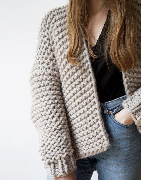 Wooly Young Thing Cardigan | Knit It. @woolandthegang