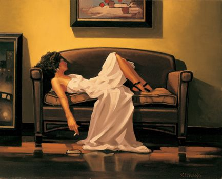 Cuadro titulado After the thrill is gone de Jack Vettriano,artista escocès cuyas obras tienen muchas reminiscencias del cine negro.