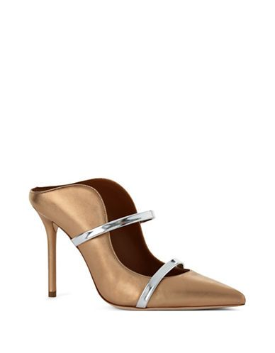 MALONE SOULIERS MALONE SOULIERSMaureen Leather Mule Pumps. #malonesouliers #shoes #sandals